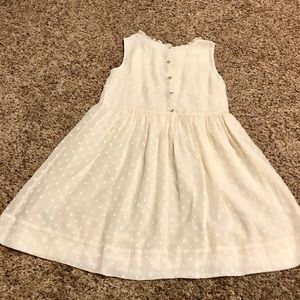 Burberry Parchment Girl's Dress, Size: 14Y